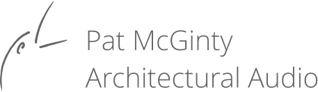 Pat McGinty Architectural Audio Logo
